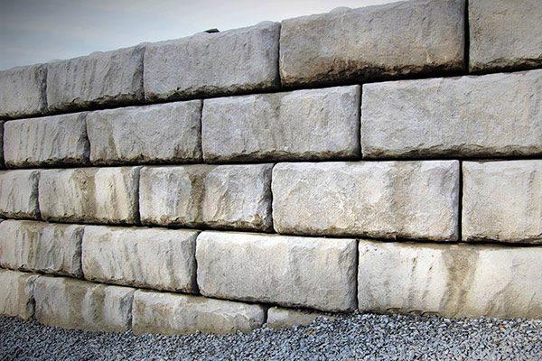 Retaining wall made from J&R Precast 41 inch gravity blocks