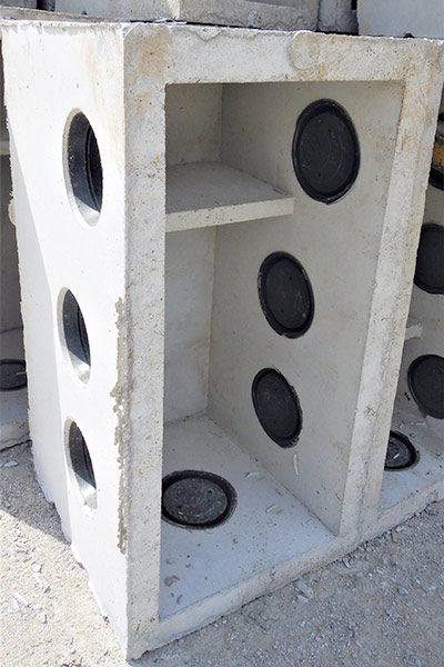 8 Hole Concrete Baffle Box